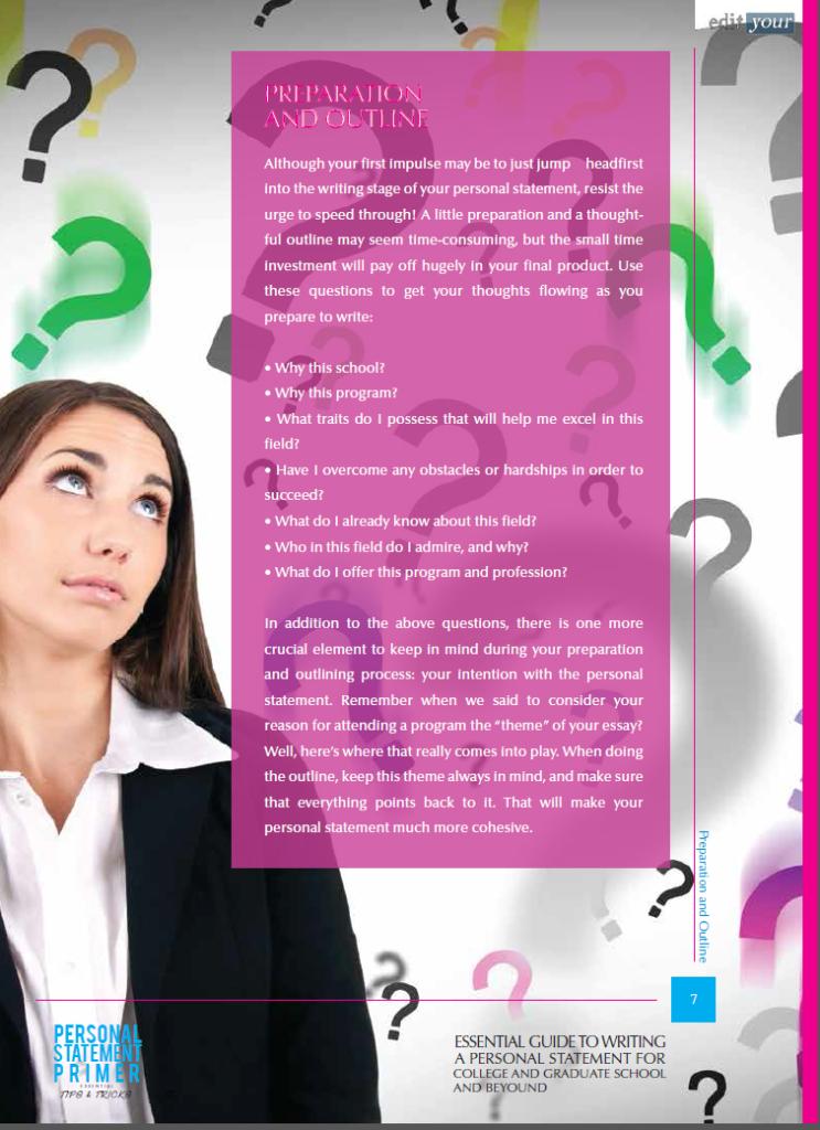 FREE Personal Statement Primer - eBooklet